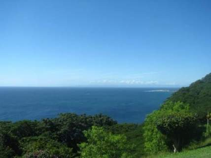 At the highest point in Tobago you can see the island of Trinidad in the distance