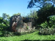 Remnants of an old clay oven an old Spanish war Fort in Tobago