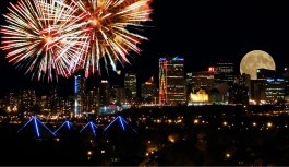 New Years Fireworks From Above