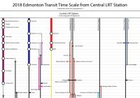 Edmonton Transit Commute Time Maps