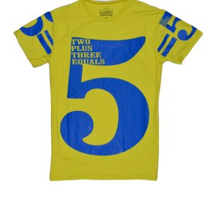 Lime Yellow Two Plus Three Equals Five T-Shirt