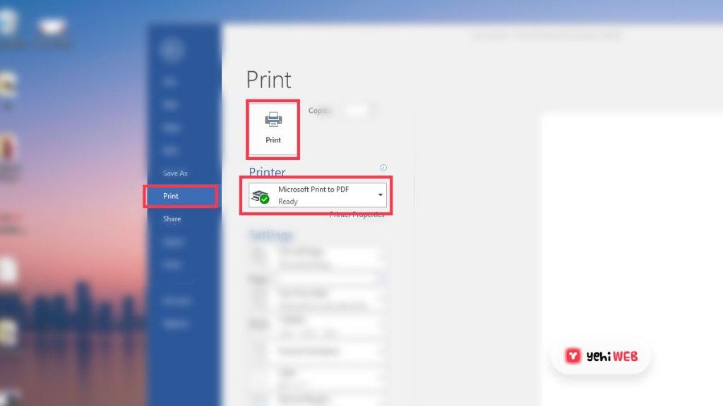 Microsoft Publisher Print Setting - Yehiweb