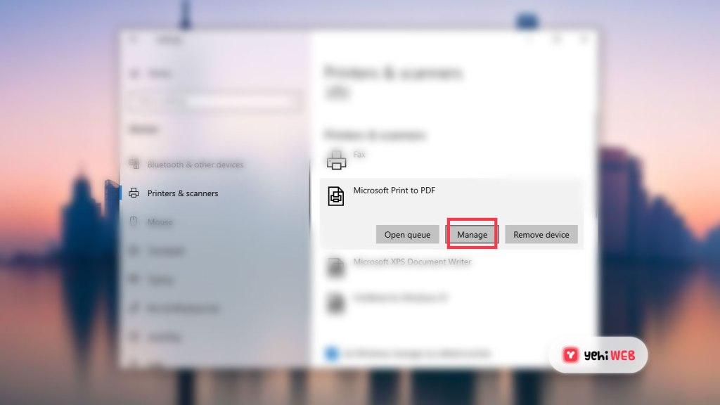 Microsoft Print to Pdf Manager Setting - Yehiweb