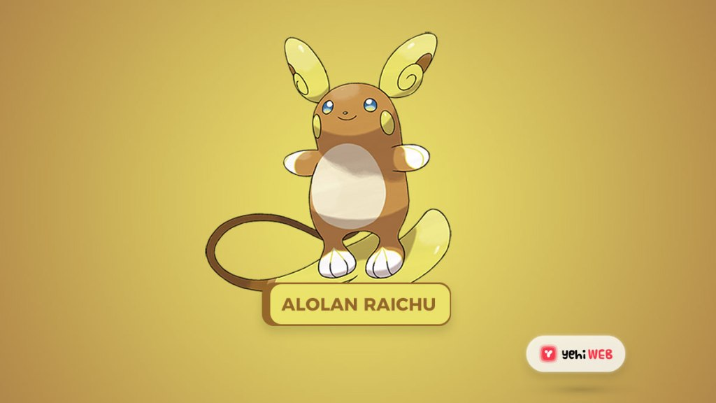 Alolan Raichu Pokémon 10 Electric Dual-Type Pokémon to Try Yehiweb