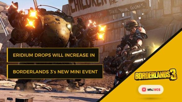 Eridium Drops Will Increase in Borderlands 3's New Mini-Event Yehiweb