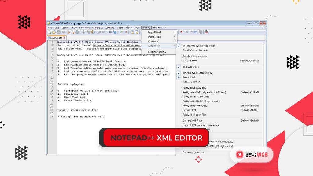 notepad++ xml editor yehiweb