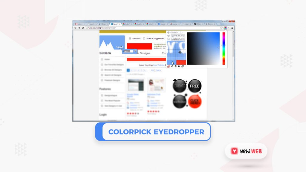 ColorPick Eyedropper Google Chrome Extension Yehiweb