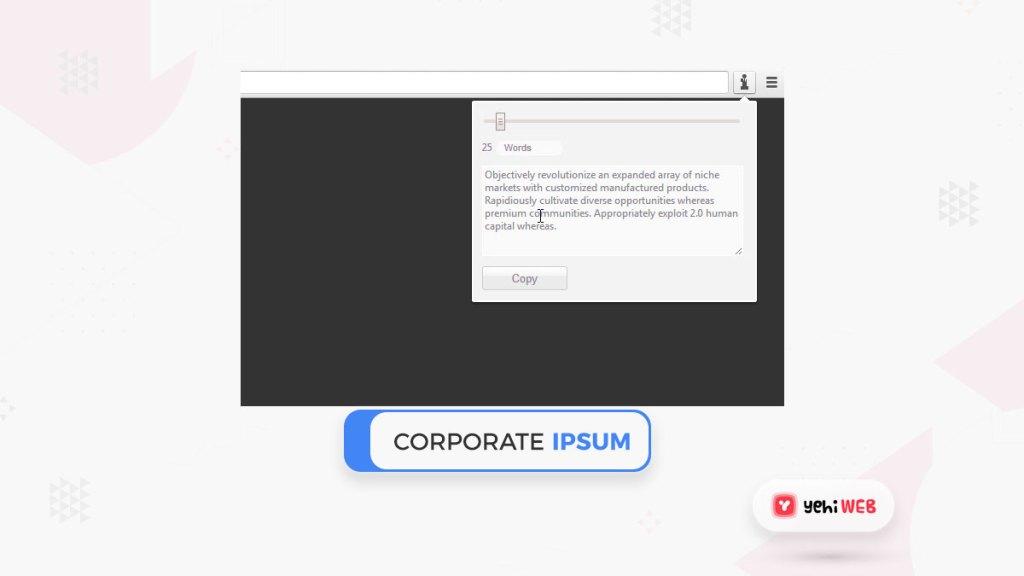 Corporate Ipsum Yehiweb