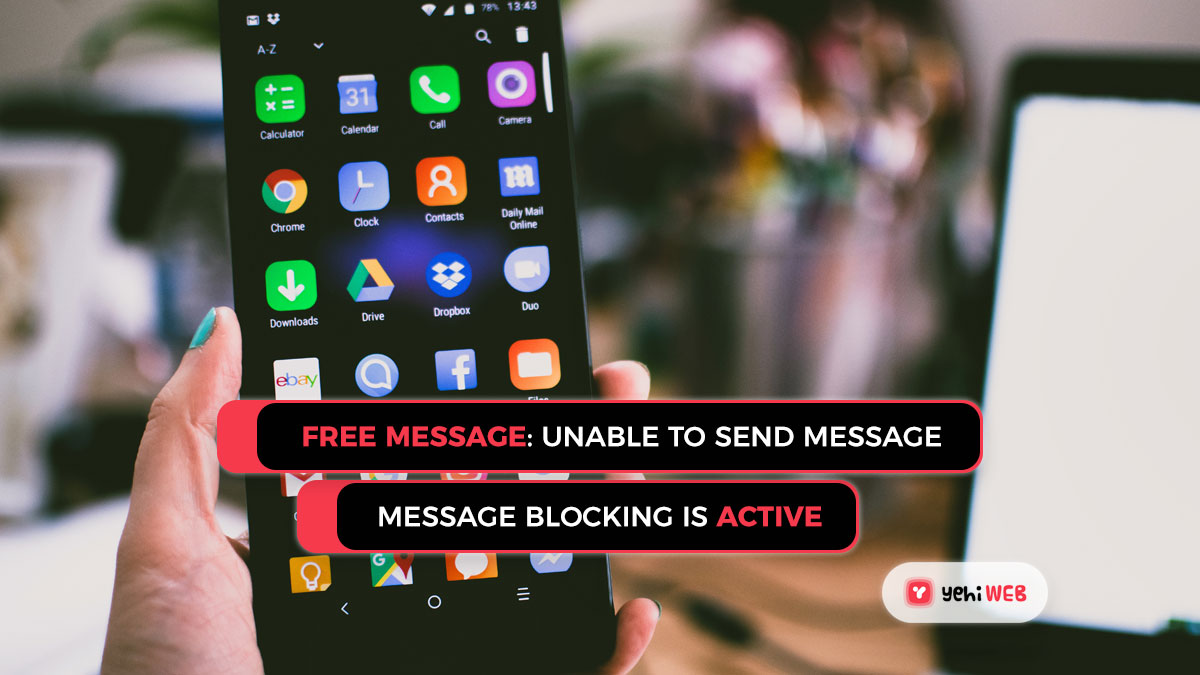 How to Resolve the 'Free Message: Unable to Send Message – Message Blocking is Active' Error While Messaging?