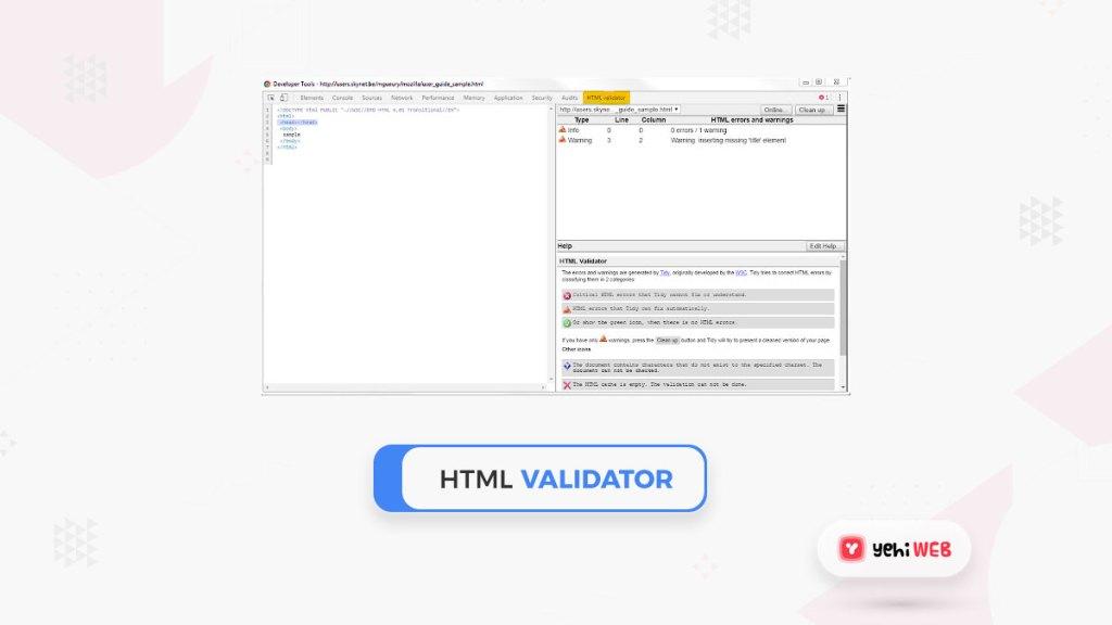 html validator google chrome extension yehiweb