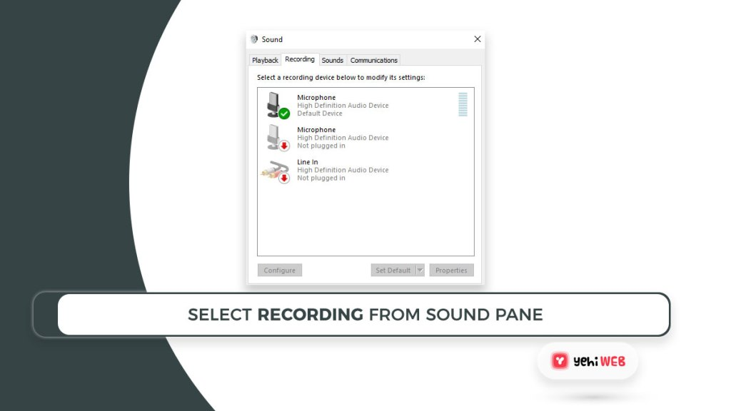 select recording from sound pane yehiweb