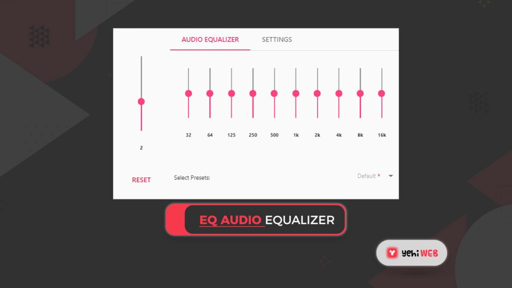 EQ Audio equalizer Yehiweb