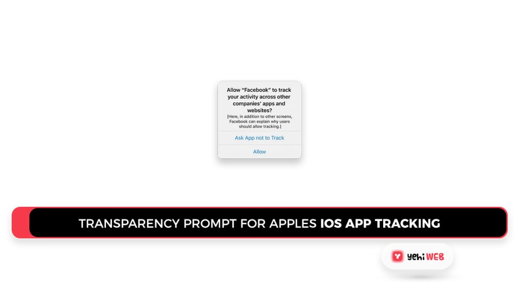 Transparency prompt for Apples iOS app tracking Yehiweb