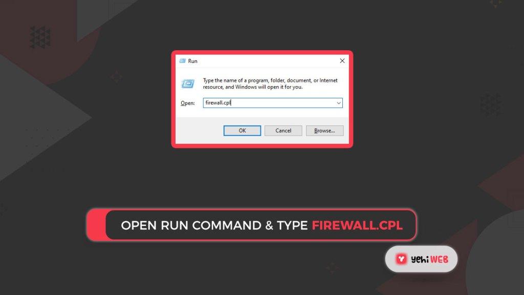 open run command & type firewall.cpl