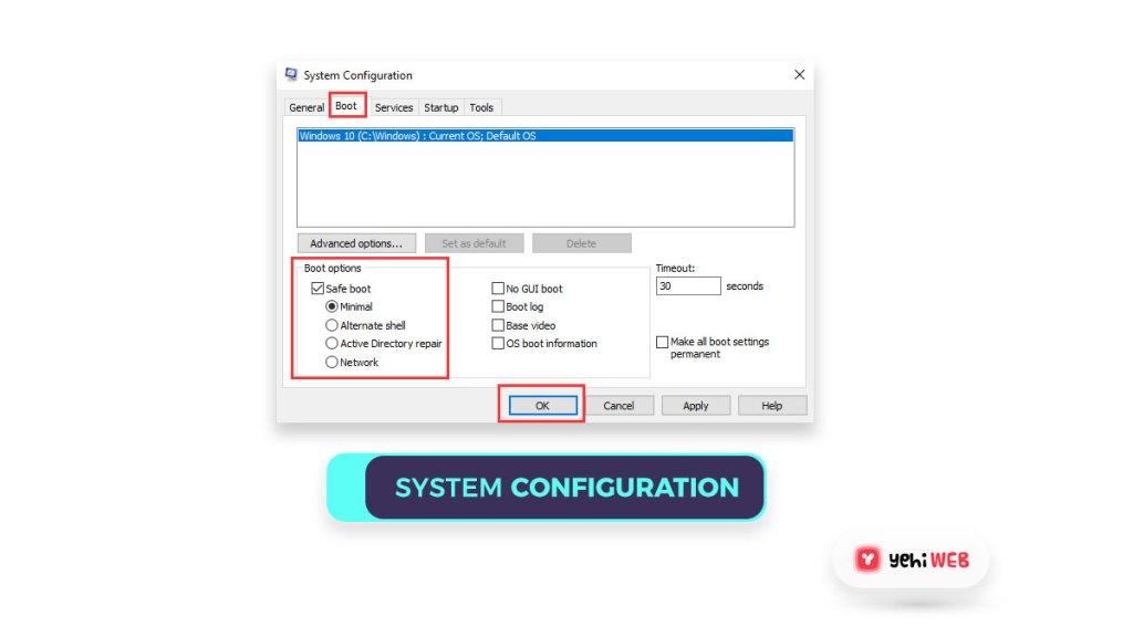 system configuration yehiweb
