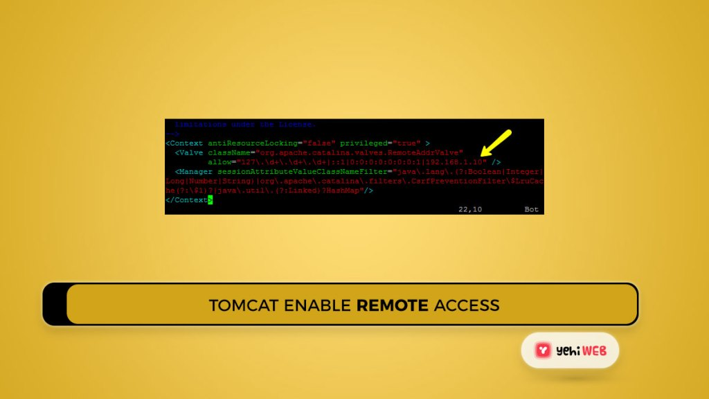 tomcat enable remote access Yehiweb