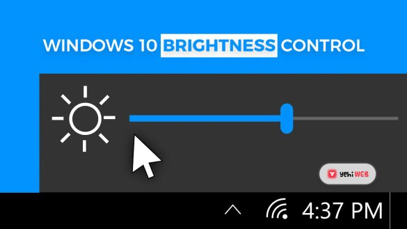 How to getWindows 10 Brightness Control to function again Yehiweb