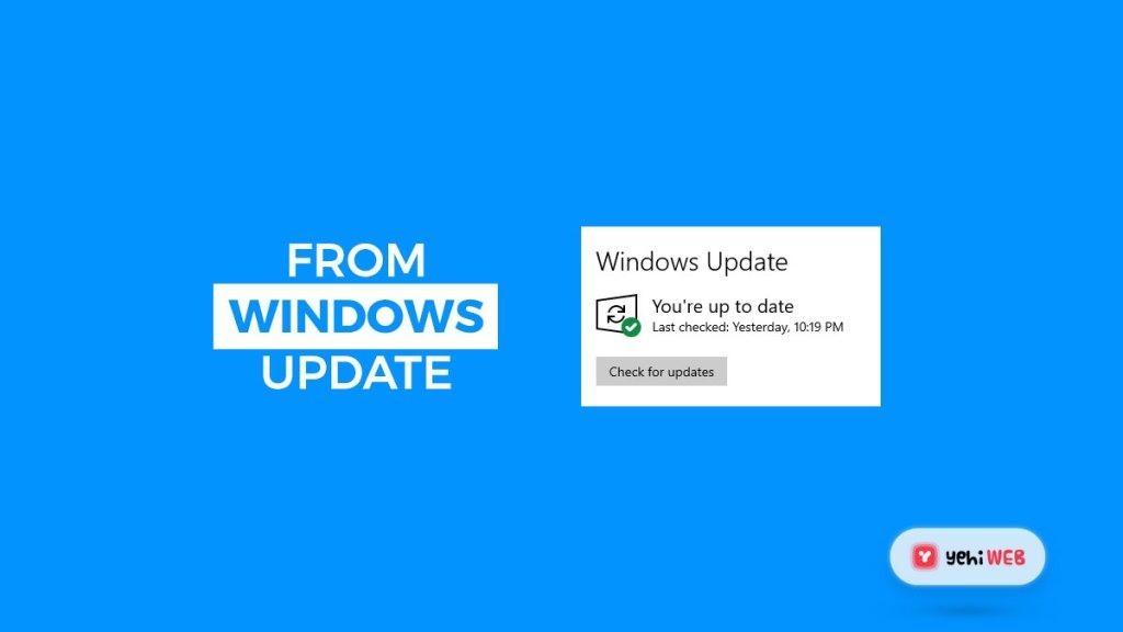 from windows update yehiweb