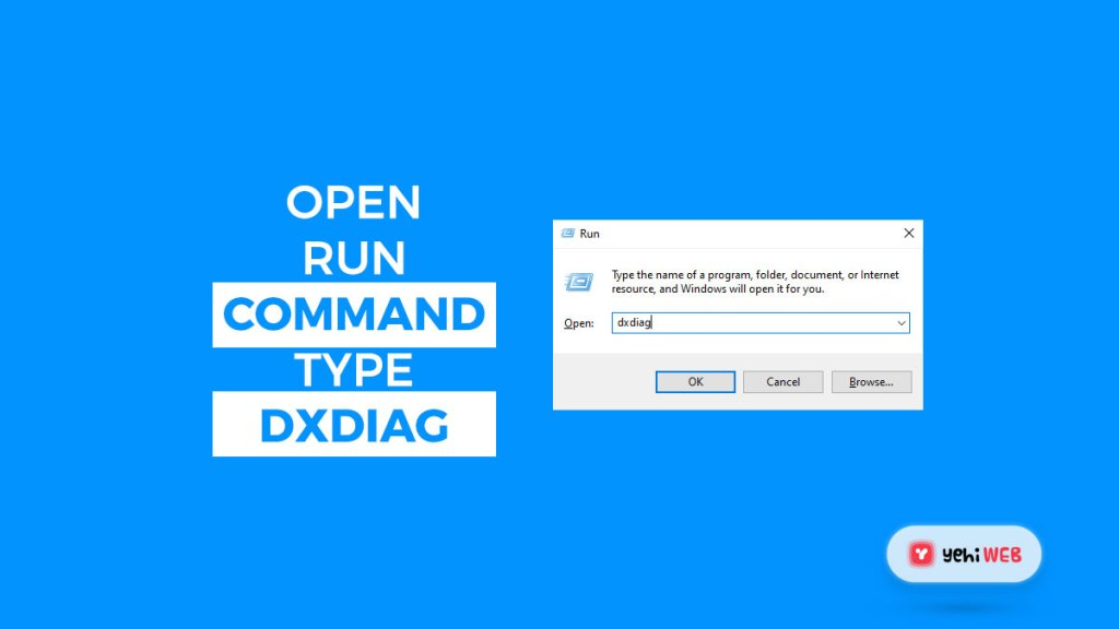 open run command and type dxdiag yehiweb