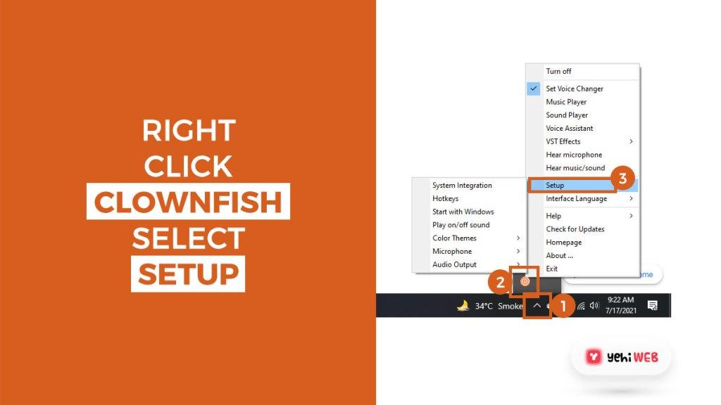 right click clownfish open setting yehiweb