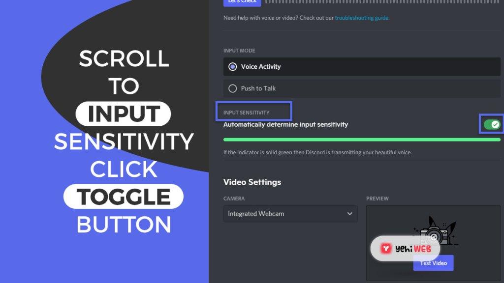 scroll to input sensitivity click toggle button yehiweb