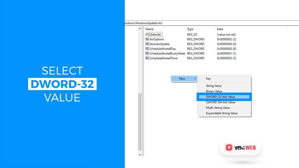 select dword 32 bit value yehiweb