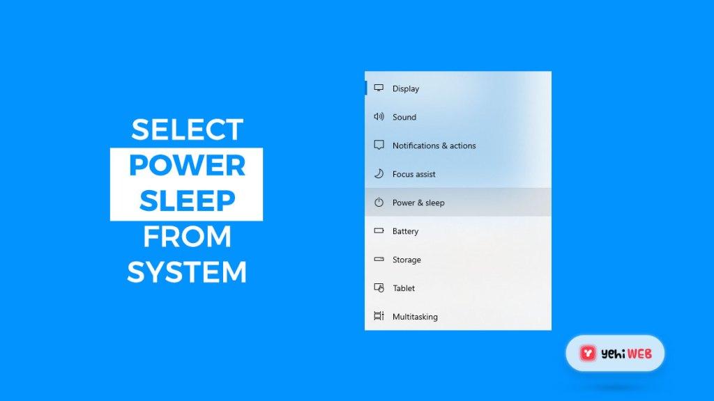 select additional power setting yehiweb