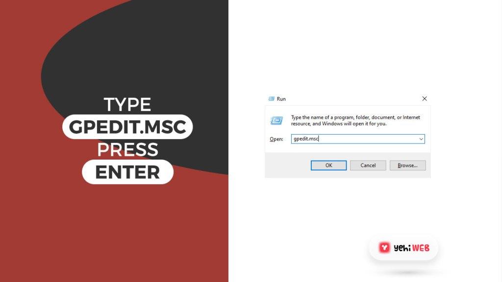 type gpedit msc press enter yehiweb