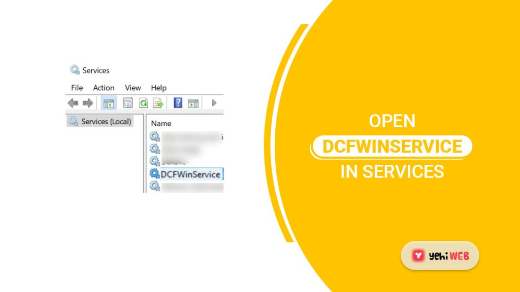 open dcfwinservice in services yehiweb