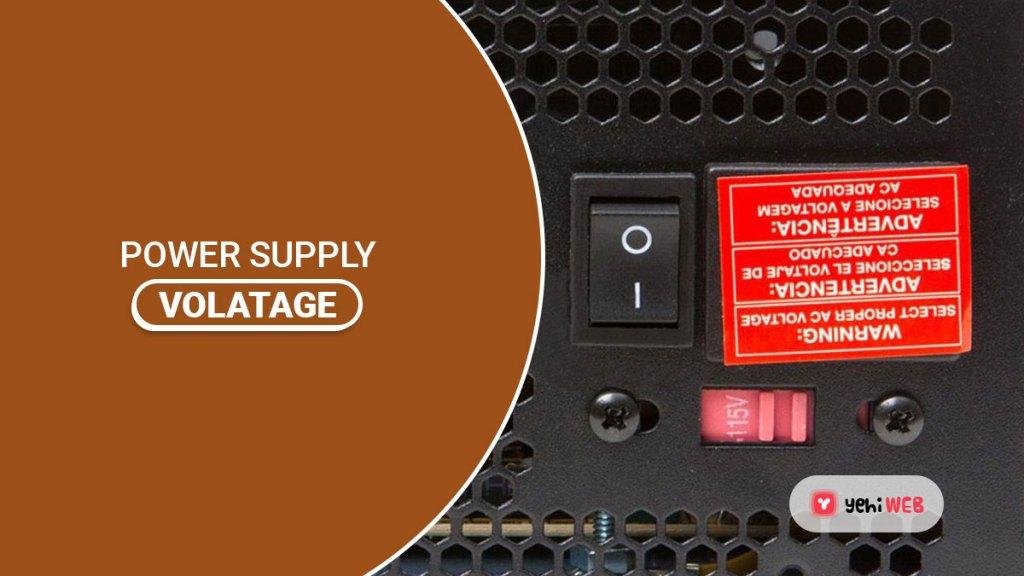 power supply voltage yehiweb