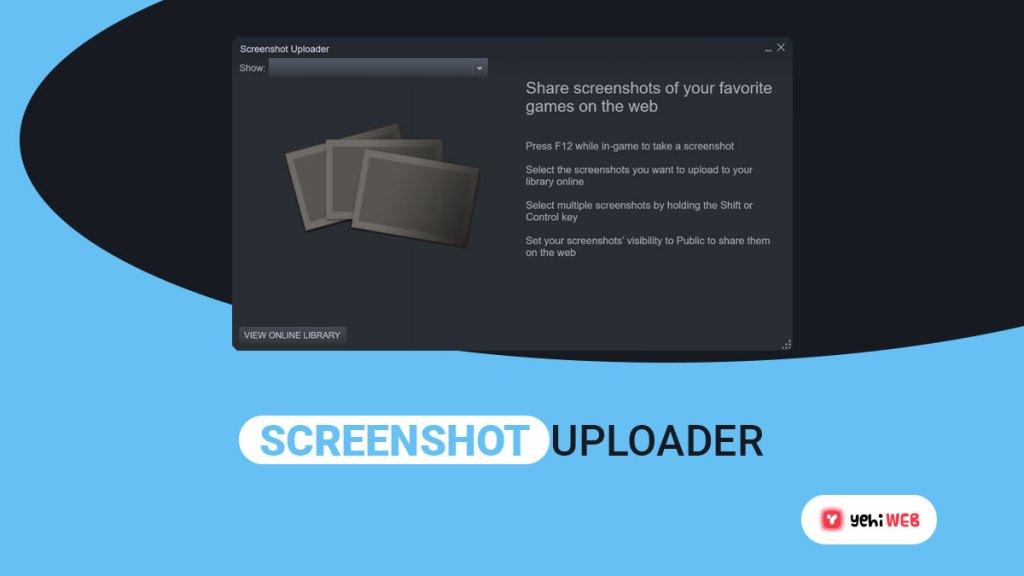 screen shot uploader yehiweb