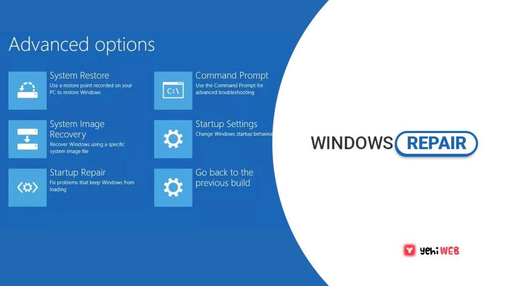 windows repair yehiweb