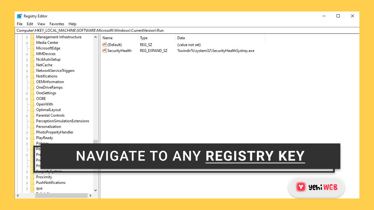How to use Registry Editor to navigate to any Registry key with a single click