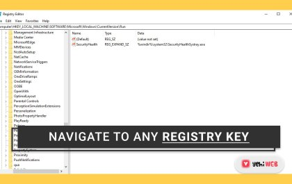 How to use Registry Editor to navigate to any Registry key with a single click yehiweb