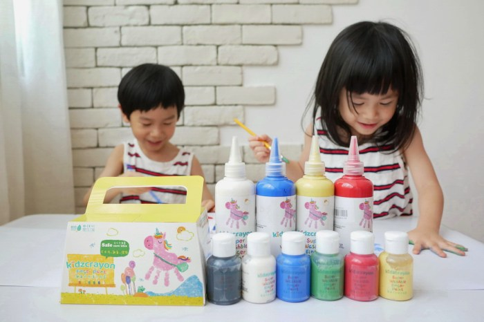[親子] 媽媽友kidzcrayon台灣製無毒手指膏推薦(紙、牆壁、磁磚、玻璃都能畫)