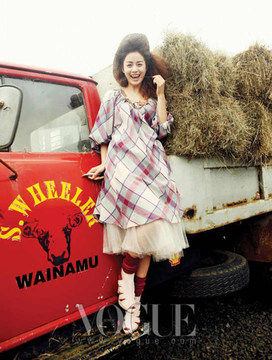 Korean actress Kim Tae-hee on Vogue magazine