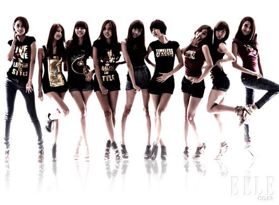 Korean girl group Nine Muses on Elle Magazine