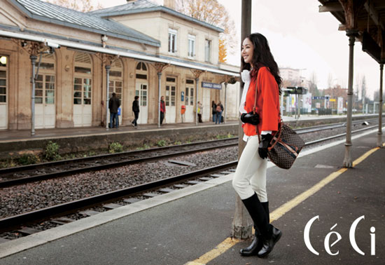 Park Min-young in Paris for Ceci magazine