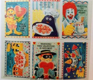 McDonalds Valentines