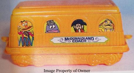 McDonaldland Coach Happy Meal box