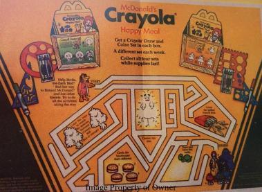 Crayola Happy Meal box