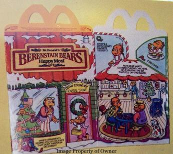 Berenstein Bears happy meal