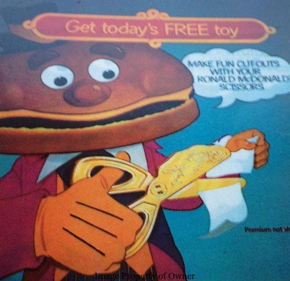 Ronald McDonald Scissors Ad