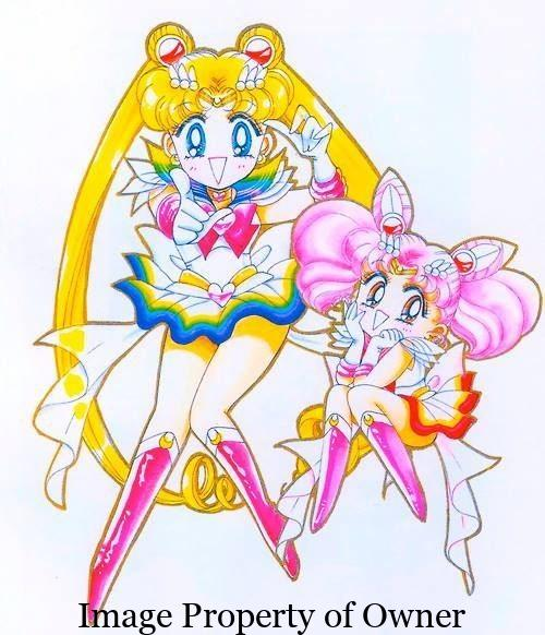 Sailor Moon and Chibi Moon manga -author unknown