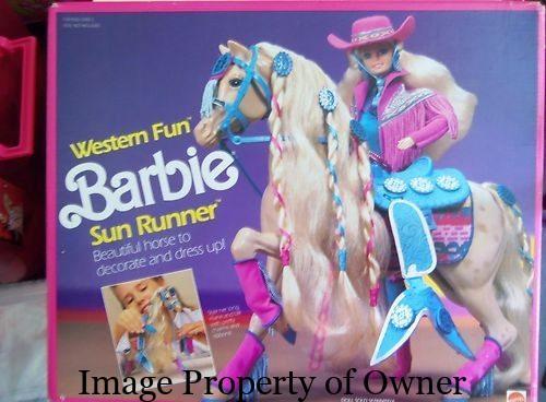 Western Fun Barbie Sunrunner Horse- Missy Denner