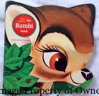 Bambi Golden shaped book