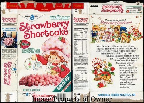 Strawberry Shortcake cereal via flickr