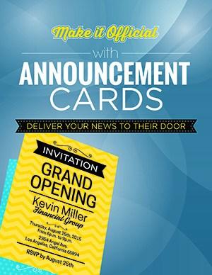 Announcement Cards Miami
