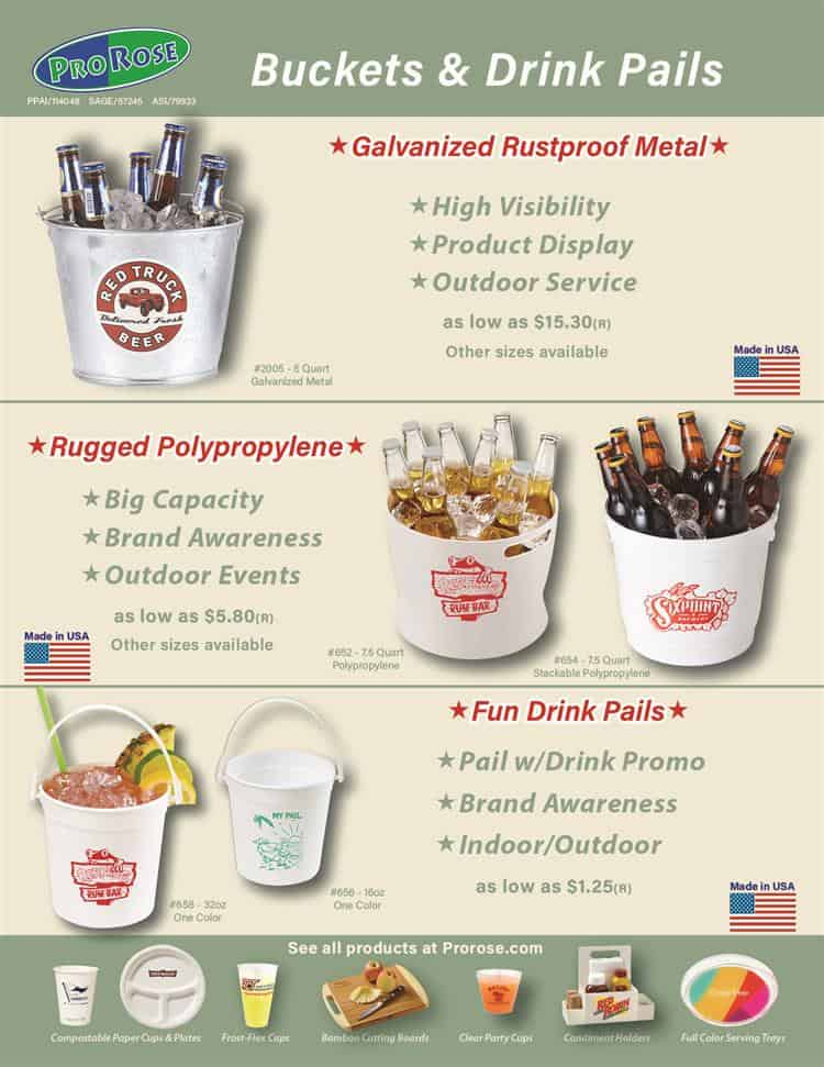 Promotional Buckets and Drink Pails