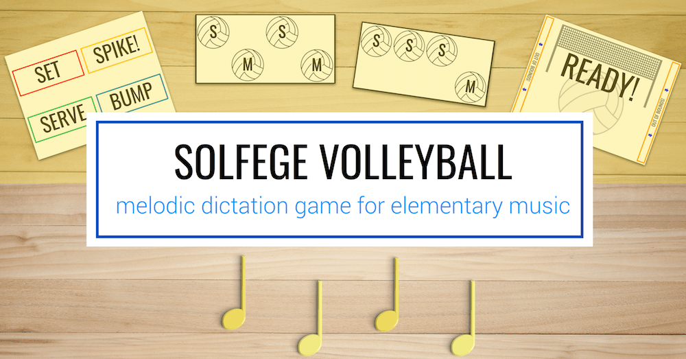 Solfa Volleyball: a game for melodic dictation
